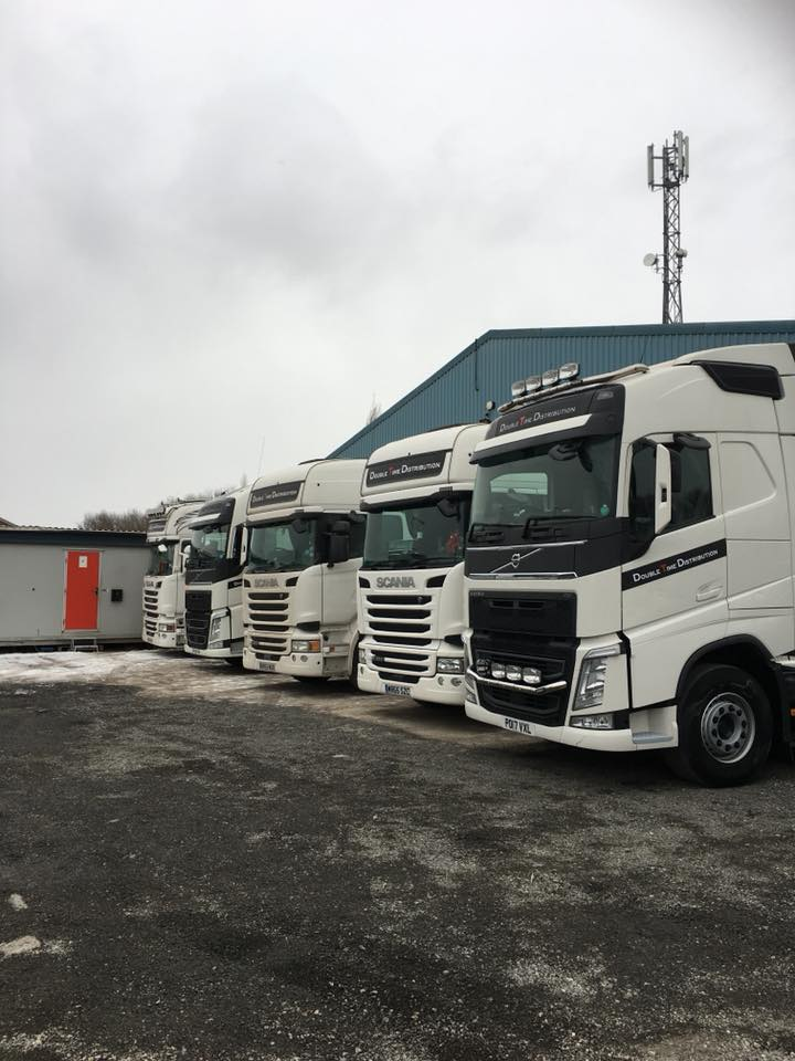 Trucks lined up in a row